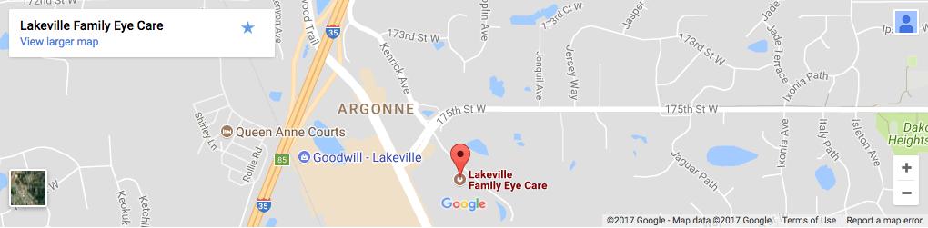 Map of Lakeville Family Eye Care Center