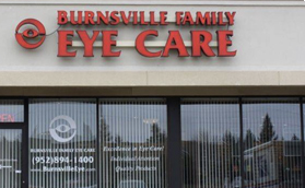 Outside our eye care clinic - optometrist - Burnsville, MN