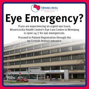 Eye Emergency - Misericordia - Armstrong & Small Optometrists
