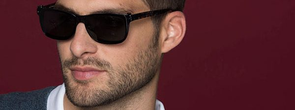 Eye doctor, man wearing EasyClip sunglasses in Winnipeg, MB
