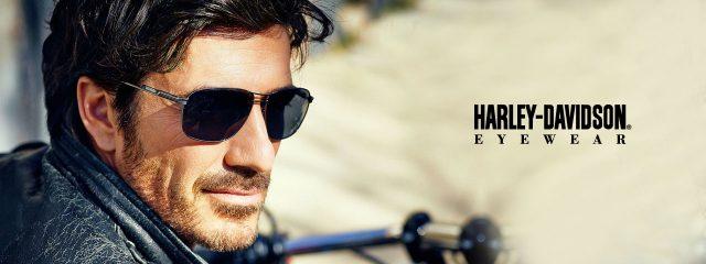 Eye doctor, man wearing Harley sunglasses in Winnipeg, MB