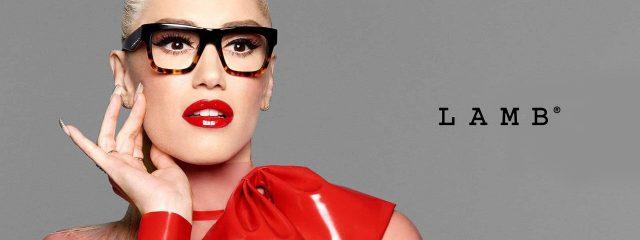 Eye doctor, woman wearing L.A.M.B eyeglasses in Winnipeg, MB