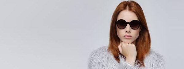 Optometrist, girl wearing Mexx sunglasses in Winnipeg, MB