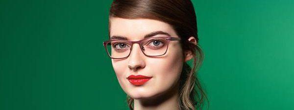 Eye doctor, woman wearing OWP eyeglasses in Winnipeg, MB