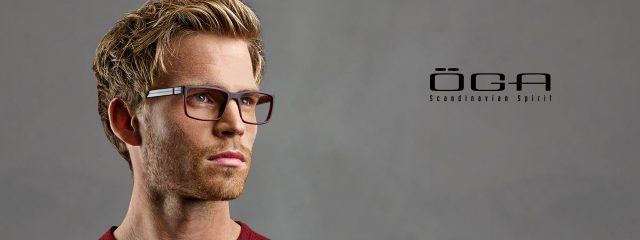 Optometrist, man wearing OGA eyeglasses in Winnipeg, MB
