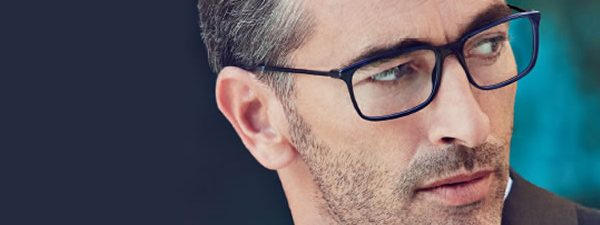 Eye doctor, man wearing Safilo eyeglasses in Winnipeg, MB