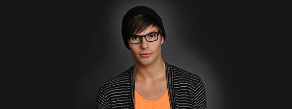 Eye doctor, man wearing Scoitt Harris eyeglasses in Winnipeg, MB