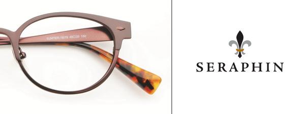 Eye doctor, pair of Seraphin eyeglasses in Winnipeg, MB