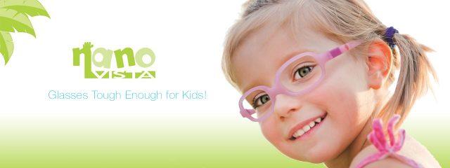 Optometrist, girl wearing Nanovista eyeglasses in Winnipeg, MB
