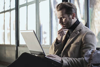 Optometrist, man filling the form online in Mesa, Central Phoenix, Glendale, AZ