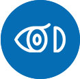 icon of an eye with contact lense