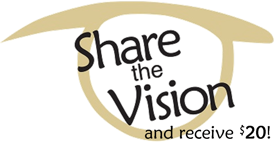 Share the vision and receive 20