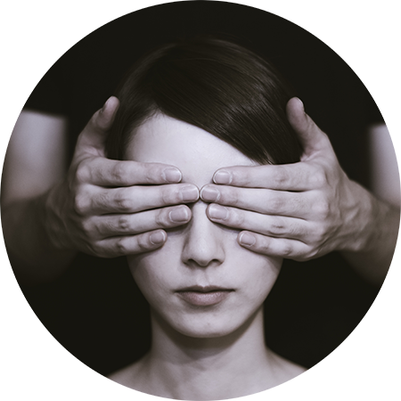eyes covered circle