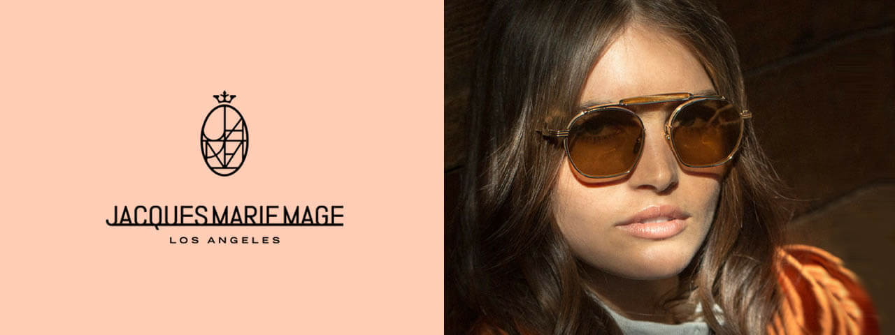 Woman wearing Jaque Marie Mage Sunglasses