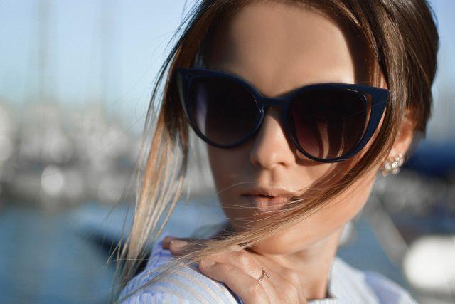 Woman Blue Sunglasses 1280×853