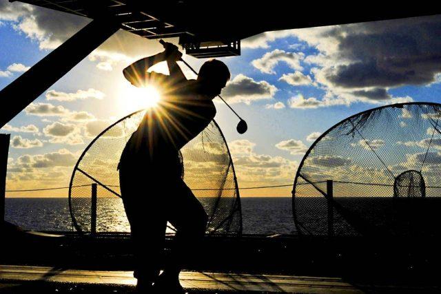 sports golf sunset silhouette 1280×853