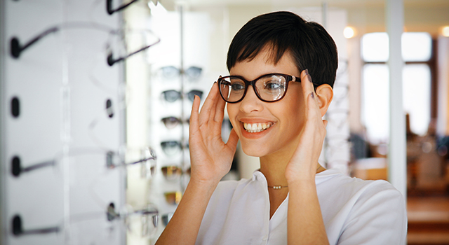 Woman-Trying-on-Glasses