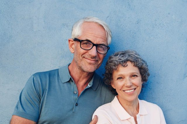 Middle-Age Couple, Ad for Diabetes & Eyesight Services