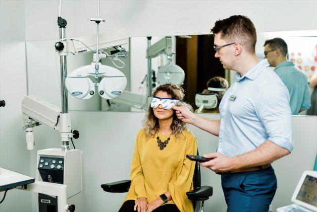 bruder mask at dry eye clinic