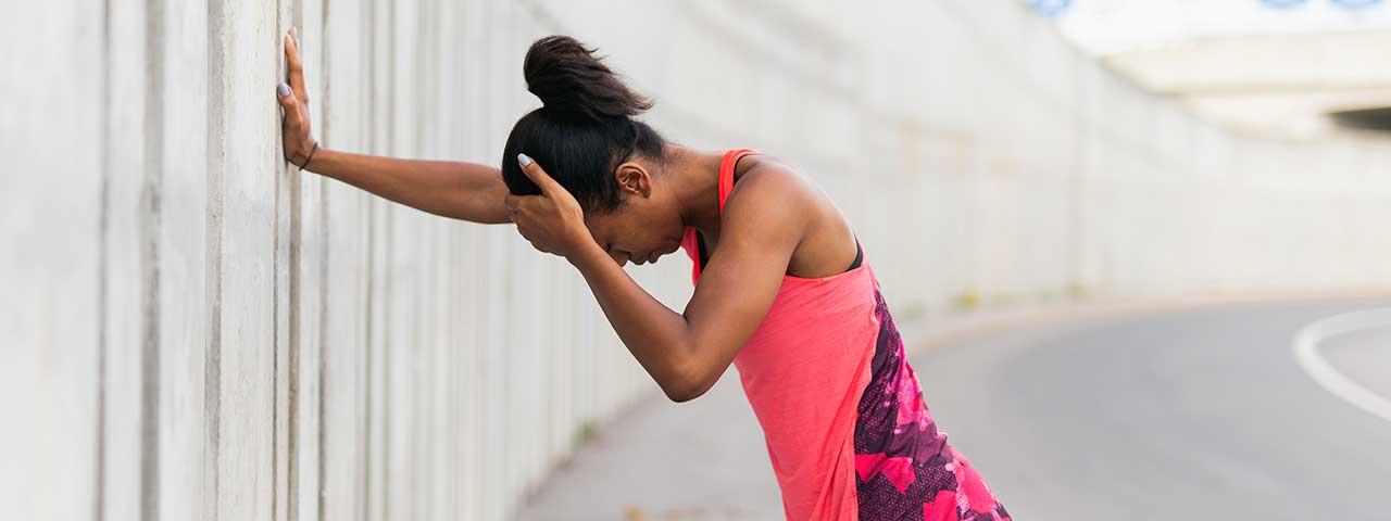 jogger needing post-concussive syndrome treatment