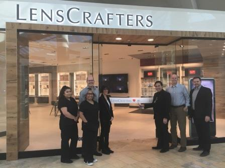 Staff of Scottsdale Lenscrafters in front of practice, Eye Care, Optometrist,