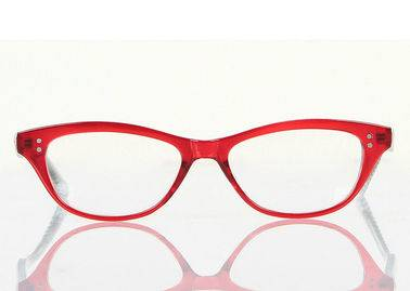 red cats eye frames