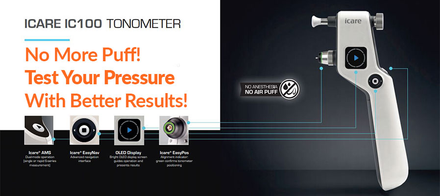 Icare® ic100 tonomoter at Orange Family Eye Care in Orange TX