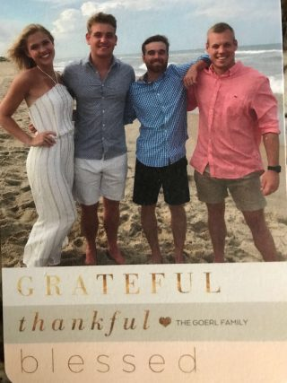 Thank you from the Goerl Family