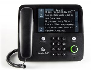 cpeyeear caption call phone
