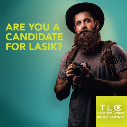 Are you a candidate for lasik, man with a beard, Fairfax, VA