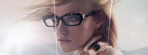 Optometrist, woman wearing Swarovski eyeglasses in Glassboro, NJ