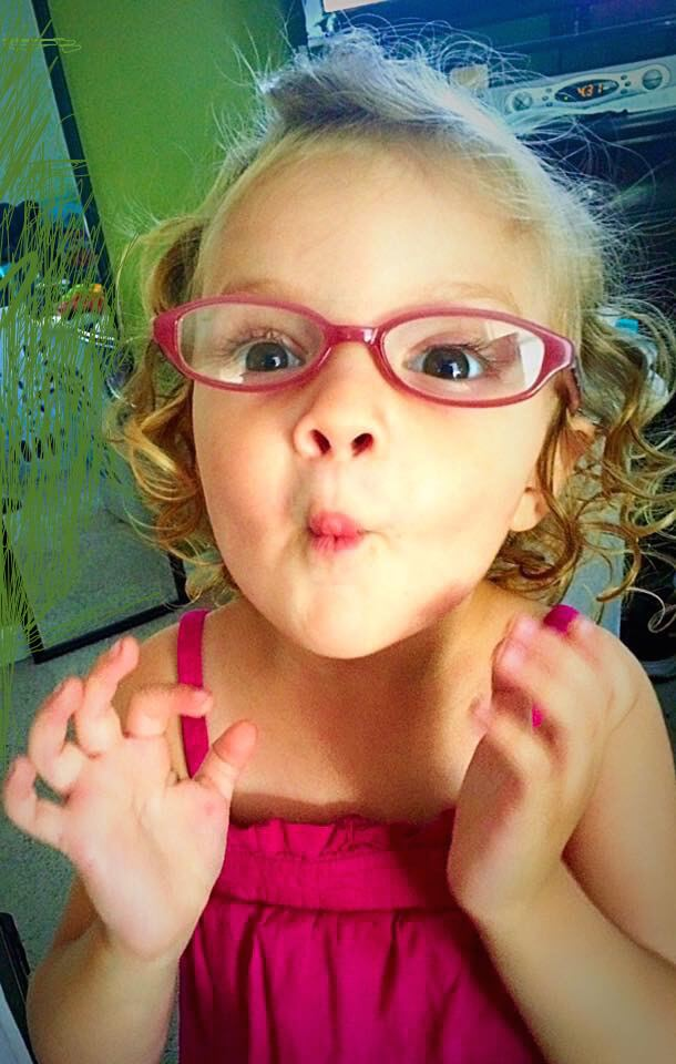 Young Girl Wearing glasses in Glassboro, New Jersey