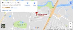 Carteret Eyecare Associates map