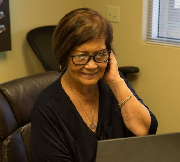 woman wearing bifocals