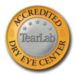 tear lab accredited dry eye center badge