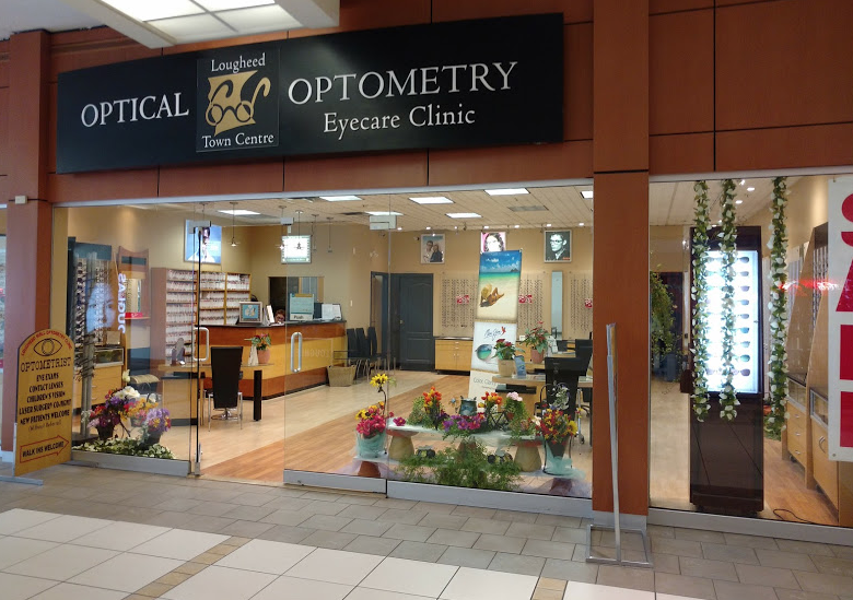 exterior of lougheed town centre optometry and optical in burnaby bc
