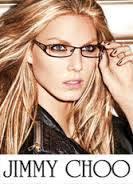 blonde model wearing Jimmy Choo glasses