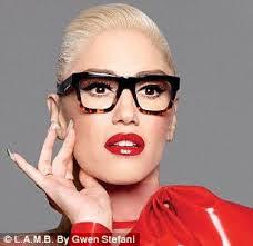 Gwen Stefani wearing designer L.A.M.B. glasses
