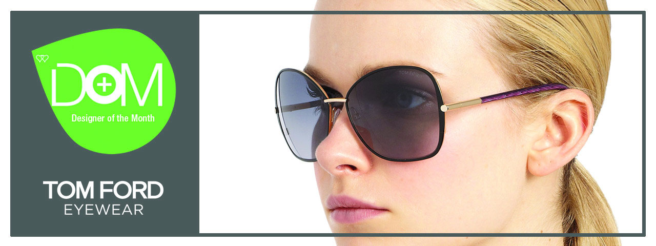 Woman Wearing Tom Ford Designer Eyewear