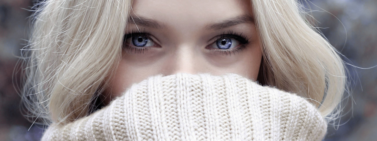 Eye care, woman wearing toric contact lenses in North Vancouver, BC
