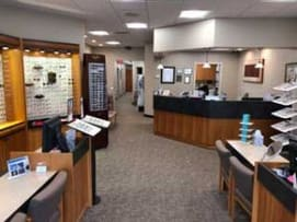 Inside our Glastonbury eye care clinic
