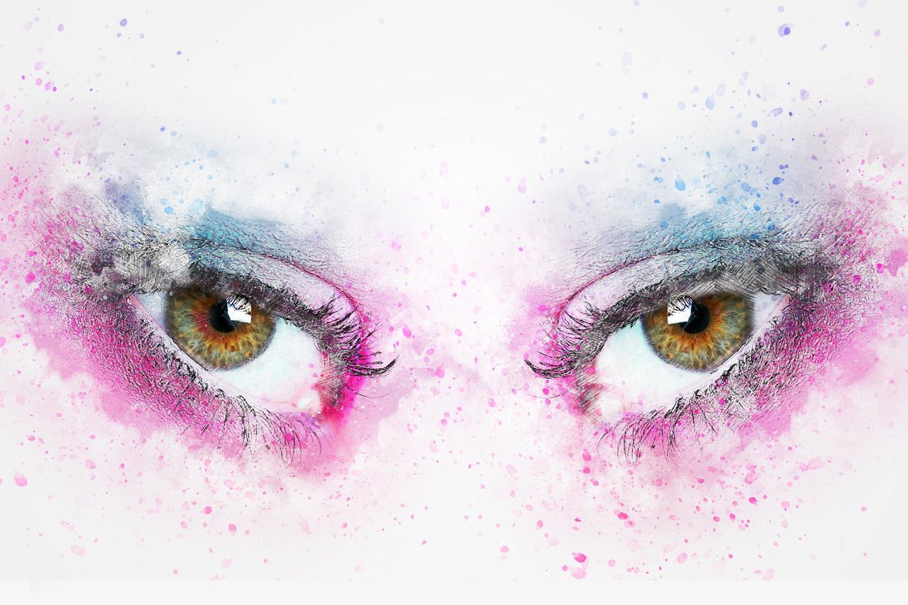 Colorful Art, Depicting Eyes