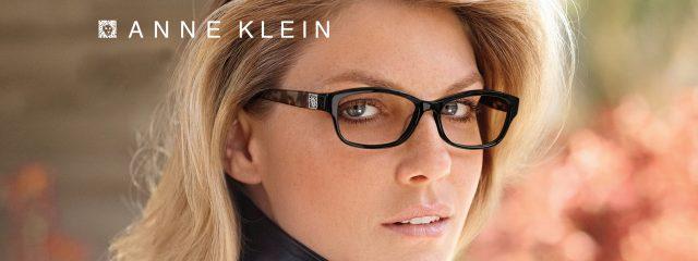Eye doctor, woman wearing Anne Klein eyeglasses in Lantana, FL