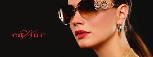 Eye doctor, woman wearing Caviar sunglasses in Lantana, FL