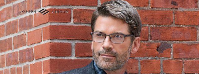 Optometrist, man wearing Joseph Abboud eyeglasses in Lantana, FL