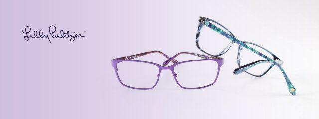 Eye doctor, pair of Lilly Pulitzer eyeglasses in Lantana, FL