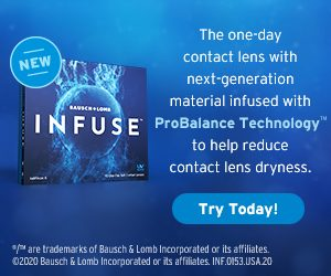 INFUSE Bausch & Lomb Contact Lenses in Lantana, Florida