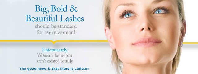 Eye care, woman using latisse eyelash treatment in Providence, RI