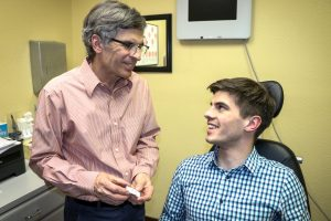 Optometrist with patient in Frisco, Breckenridge and Silverthorne, CO