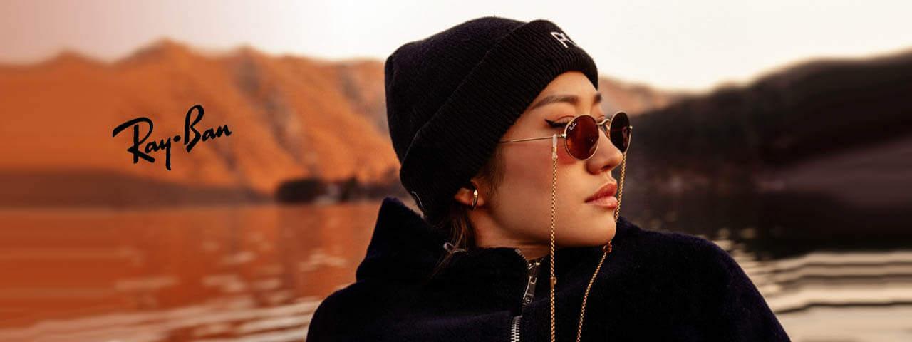 Woman Wearing Ray-Ban Designer Frames